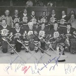 Old Pros signed B&W Hockey Photo