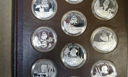 Explorers of Canada Proof 50-medallion Set in album 60oz ASW