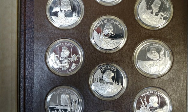 Explorers of Canada Proof 50-medallion Set in album 60oz ASW