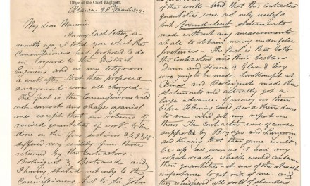 Intercolonial Railway 28 Mar 1872 Marcus Smith 2-pg Letter to his wife