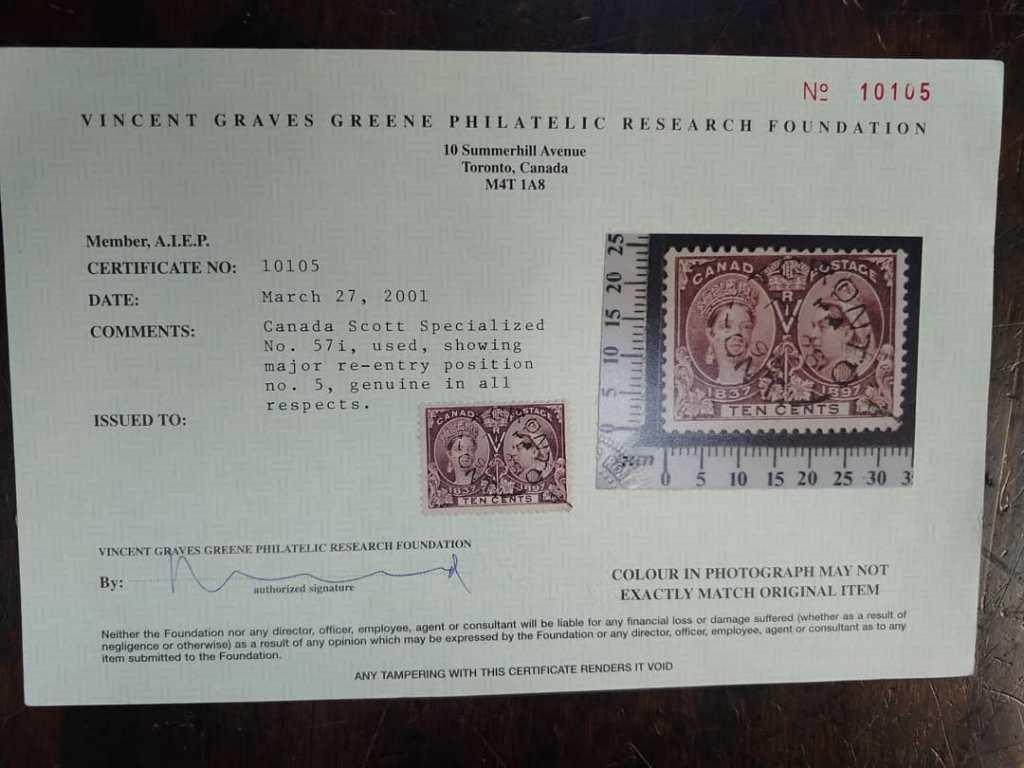 Greene Certificate, signed