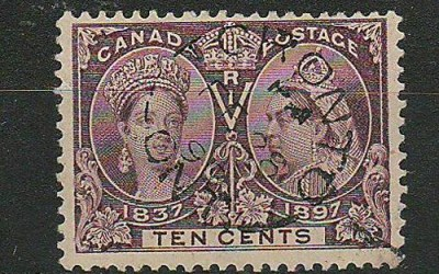 Canada 1898 Toronto CDS Used 10c Victoria Diamond Jubilee Major Re-entry with 2001 Greene Certificate