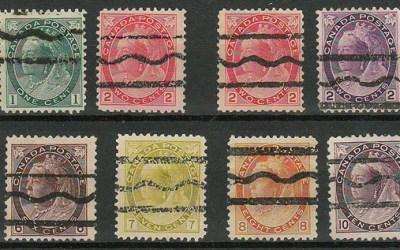 Canada #74xx-84xx 1898/1902 Precancel Set (12)