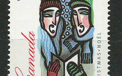 Canada #1535ii 1994 90c unissued Christmas stamp
