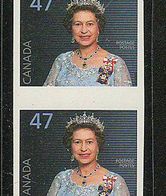 Canada #1683a 2000 47c QEII Imperforate Pair