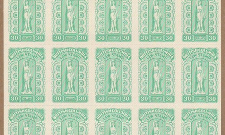 British Columbia #BCL66 1981 $30 Sheet #00517