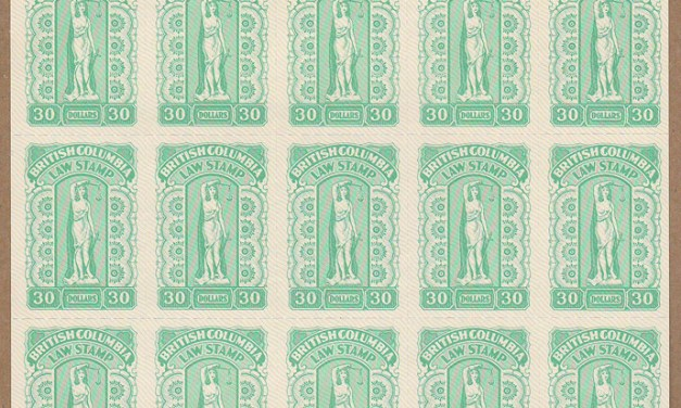British Columbia #BCL66 1981 $30 Sheet #00517