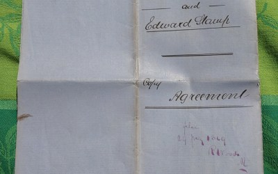 Edward Stamp signed 1864 copy agreement for British Columbia & Vancouver Island ex Wellburn