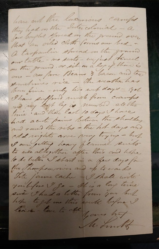 Page 4 of letter signed