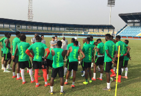 Rohr Hints At Starting XI : Ndidi, Uzoho, Omeruo, Shehu Team A; Balogun, Onuachu, Ogu Team B