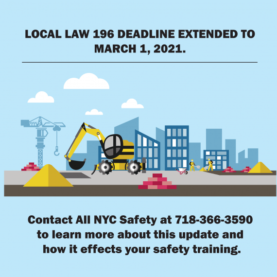 UPDATE! New Local Law 196 Deadline!