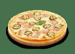 Pizza-aubergine