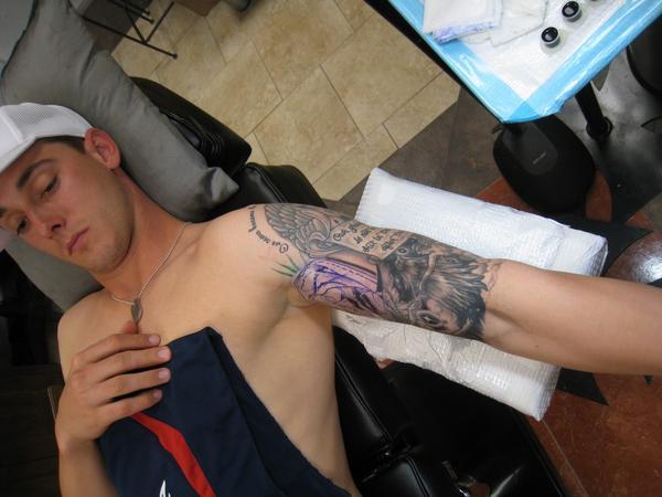 Mike bibby tattoos tattoo pictures online for Jordan garnett tattoo