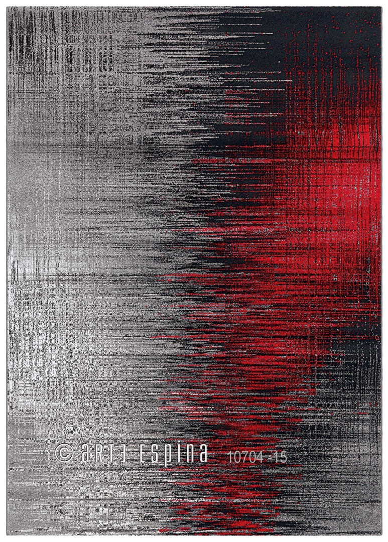 tapis gris et rouge tendance screen arte espina