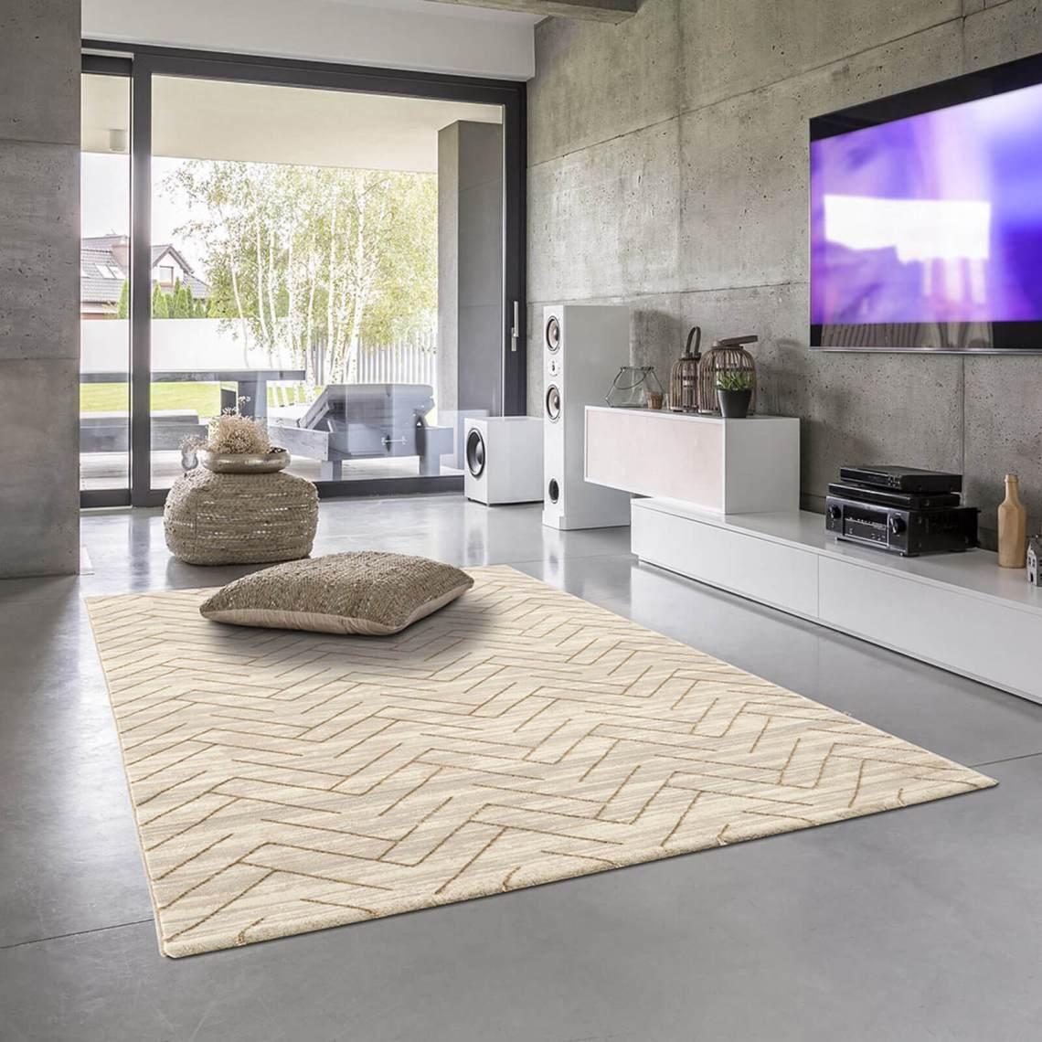 tapis rectangle beige