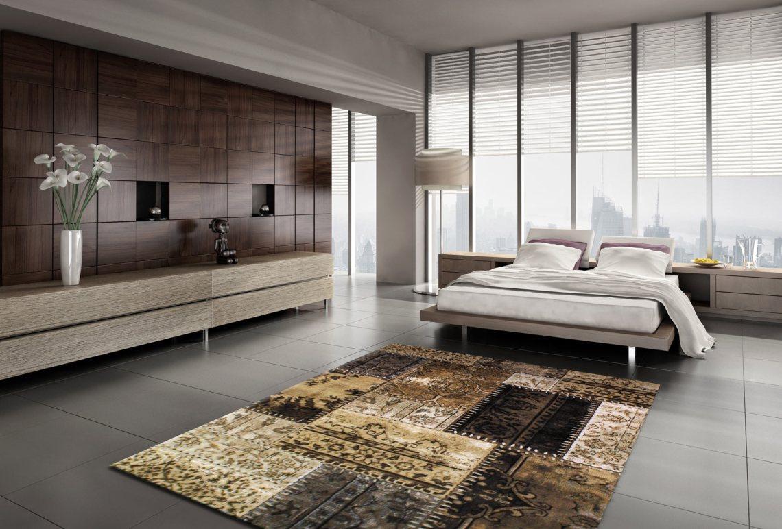 tapis-style-patchwork-beige-pour-intérieur-Cactus