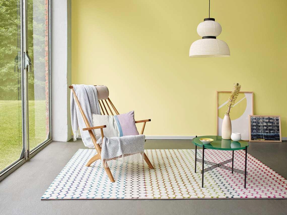tapis courtes meches multicolore esprit home happy