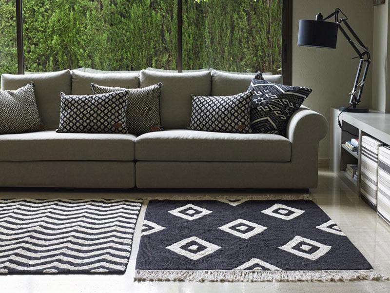 tapis en coton naturel