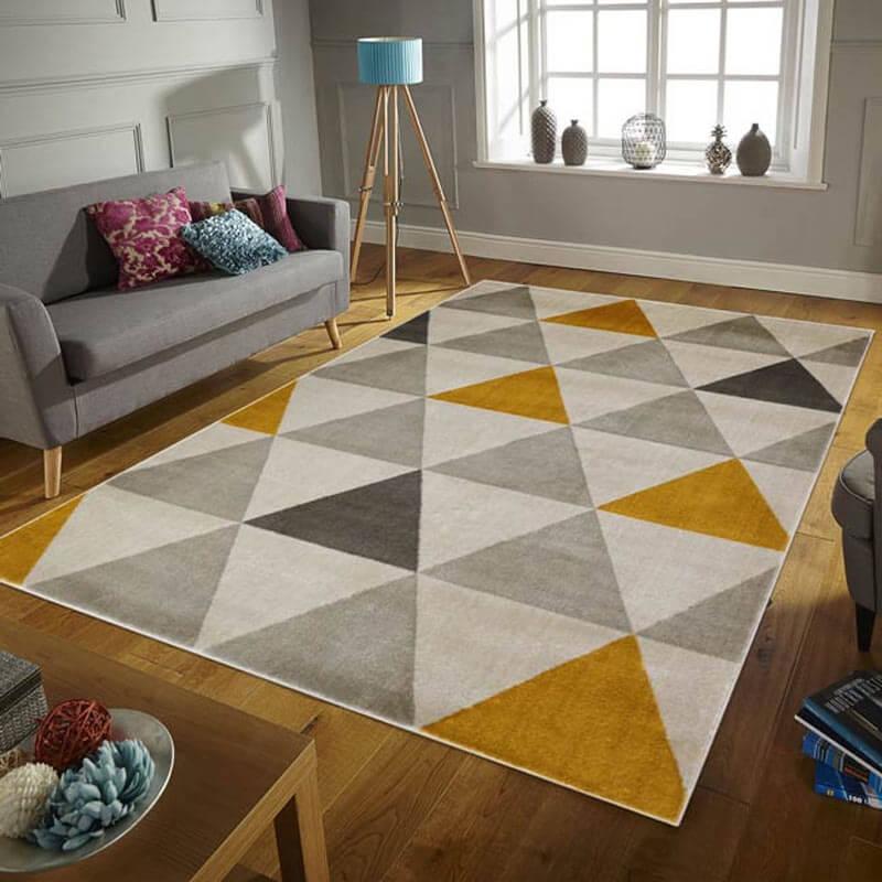 tapis scandinave graphique