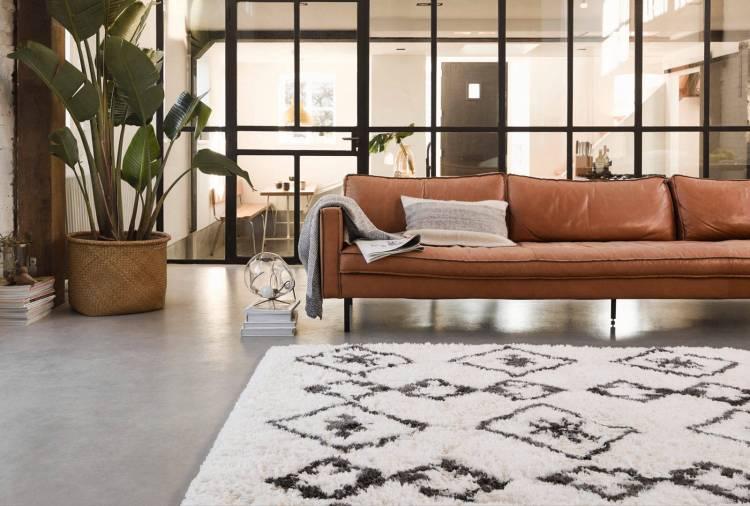 tapis berbère à longues mèches