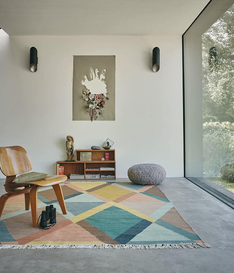 tapis design multicolore