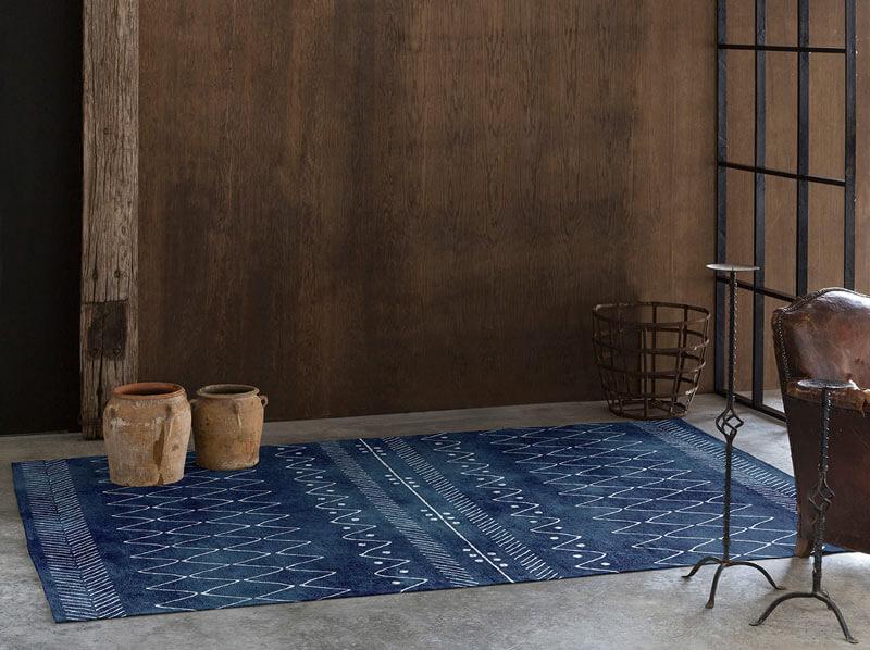 tapis moderne ethnique