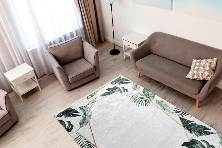 tapis lavable en machine floral