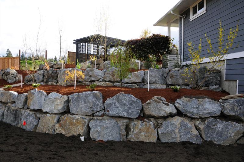 rock retaining wall retaining walls and rocks on pinterest on retaining wall id=75511