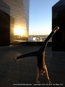 cartwheels on the roof - Museum Pablo Serrano