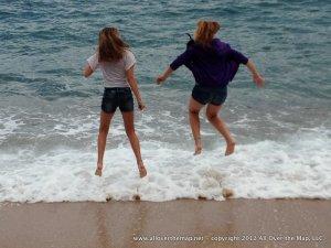Frolicking in the Mediterranean in the Costa Brava