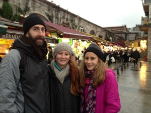 My wonderful family at the Spice Bazaar in Istanbul