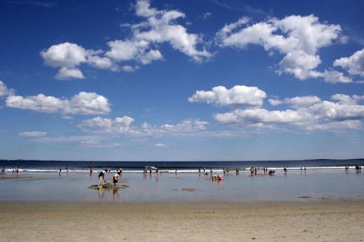 2 - Old Orchard Beach blue sky beach