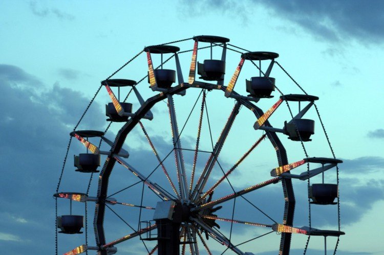 3 - Old Orchard Beach Ferris Wheel at dusk