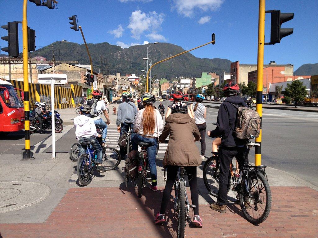 Exploring Bogota on bikes