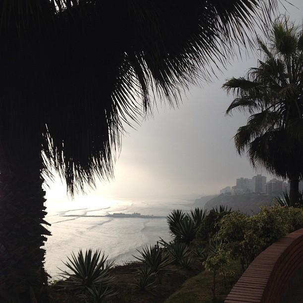 The winter fog, la garua, is settling in in Lima.
