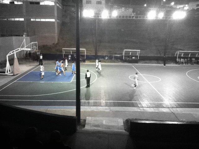 Night basketball in Cusco, Peru