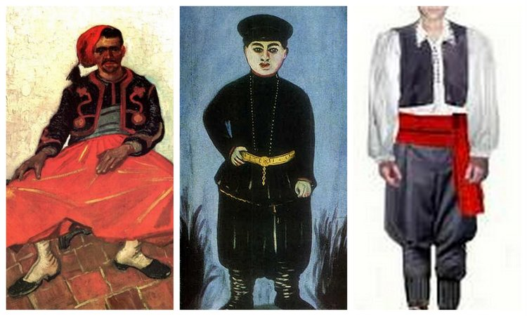 The Zouave uniform, the Turkish shalvar, and the Serbian national costume