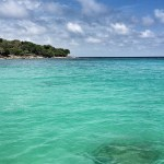 The turquoise loveliness of Playa Blanca, near Cartagena, Colombia