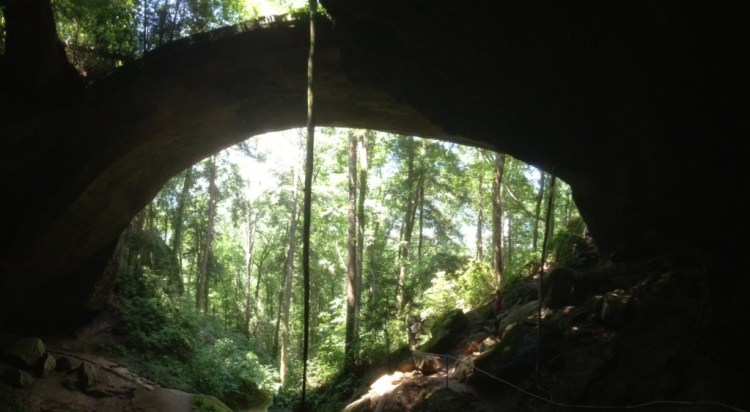 Natural Bridge near the Mississippi - Alabama border. We stopped while driving along State Route 195 for a short hike and picnic lunch