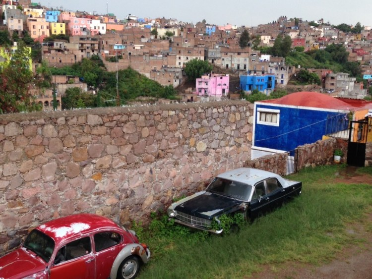 The view from our campsite in Guanajuato was interesting.