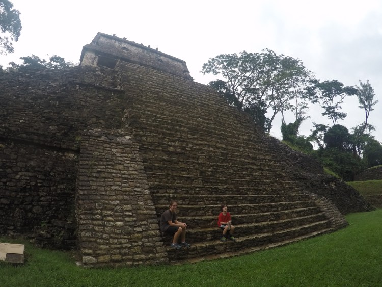 A European Count spent two years of his life living in the temple at the top of these steep steps. Coconut and J spent 10 minutes of their lives here pouting about having to visit the great Mayan site of Palenque