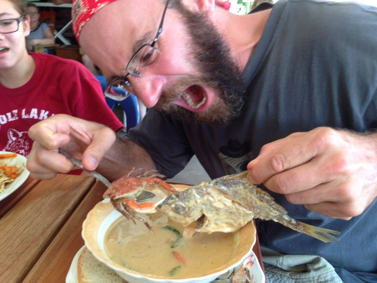 The most interesting thing about the signature seafood soup of Livingston was that it came with an entire fish and crab, and they had a battle to the death. They both lost.