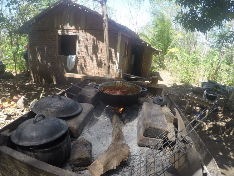 We had a chance to stay with a local family and experience cooking outdoors on wood fire and living in a square, brick house with dirt floors.