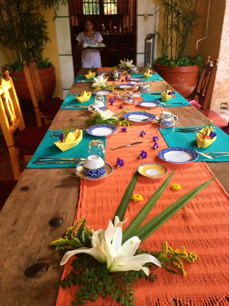 Beautiful table setting at Hacienda Petac