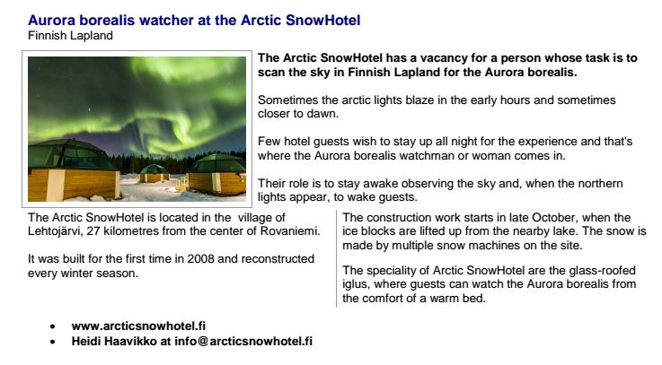 Help Wanted: Northern Lights Spotter