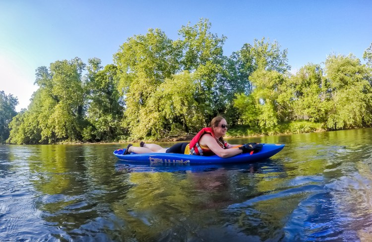 Bellyaking on the French Broad River