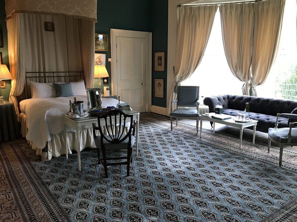 The Blue Room at Castle Leslie
