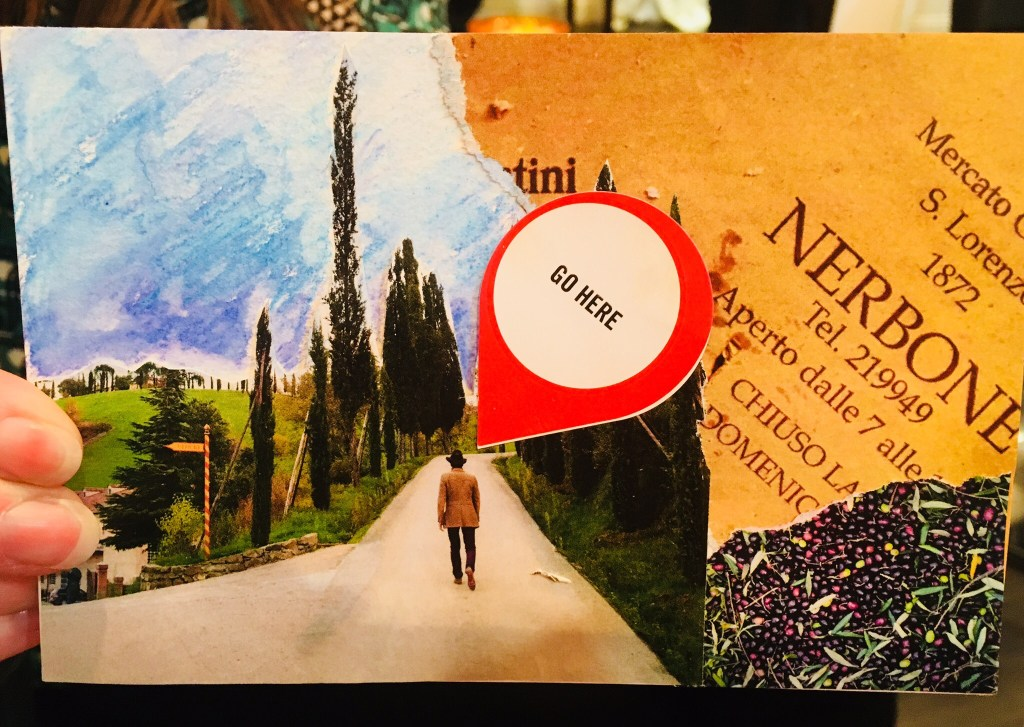 Travel Vision Postcard with scenes of Italy