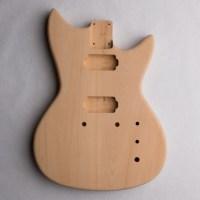 Custom Shaped Alder 2-Piece Unfinished Guitar Body