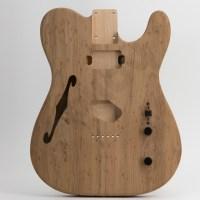 Roasted Birdseye Maple Top T-Style Guitar Body